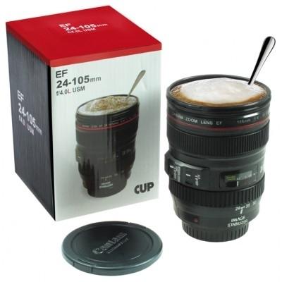 Idea regalo di natale cammung camera tazza obiettivo for Regalo camera
