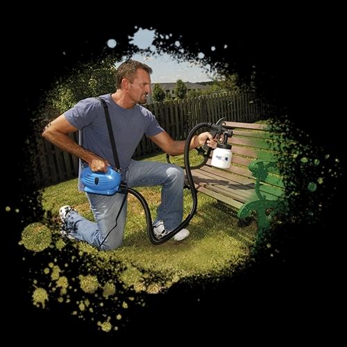 Eco paint sprayer pistola a spruzzo professionale per dipingere e verniciare - Dipingere casa a spruzzo ...