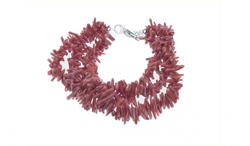 Parure Coral Bamboo Rossa