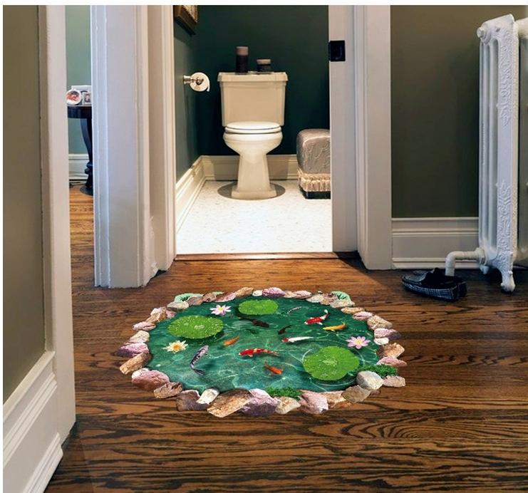 Adesivi 3d stickers per pavimenti e pareti for Tavole adesive 3d per pareti